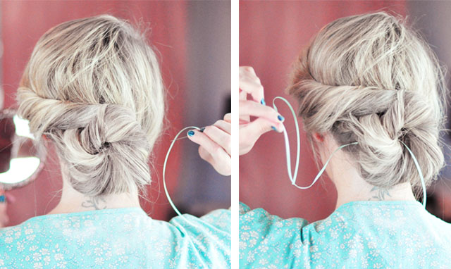 Elsa hair tutorial -before- twist and bun-10