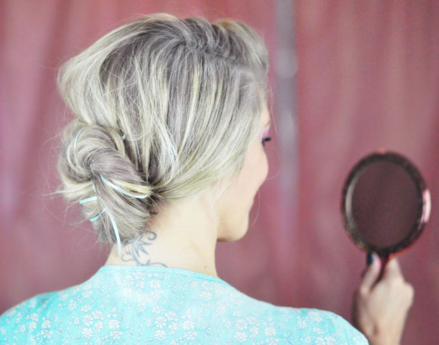 Elsa hair tutorial -before- twist and bun-12