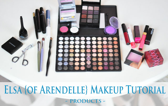 Elsa makeup tutorial- products used for Halloween or Cosplay