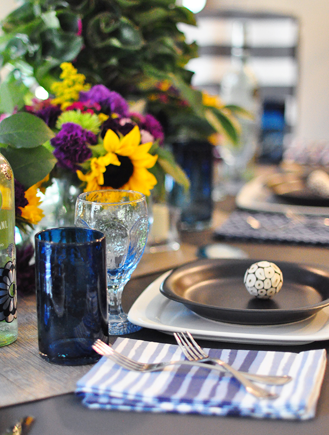 End of summer tablescape