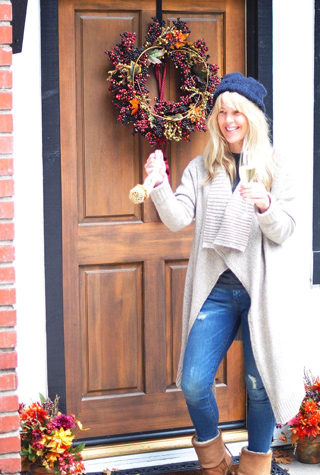 Fall Decorating_Front Door_Ecco Domani