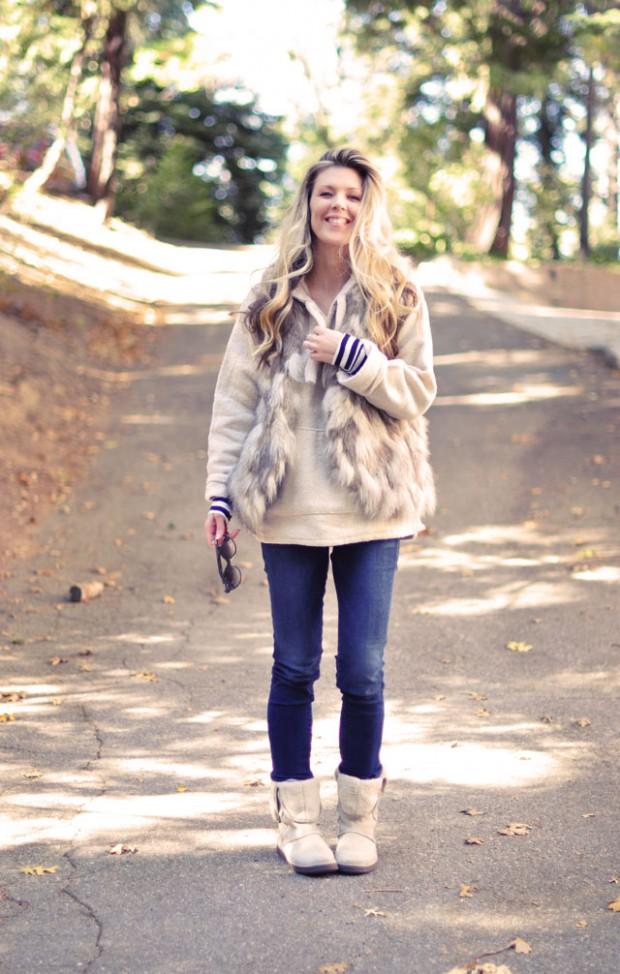 Faux fur vest Winter Outift-2013