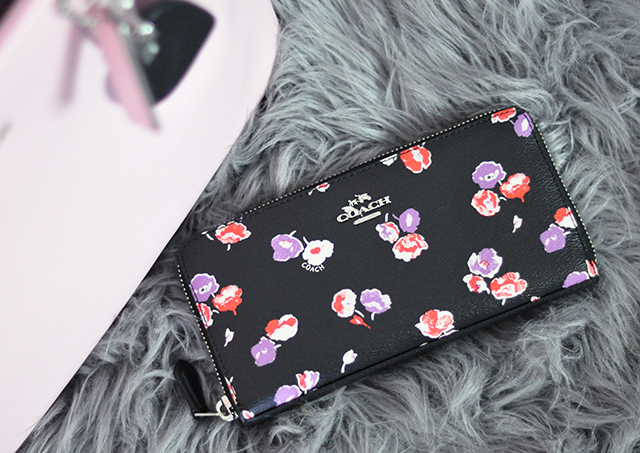 Floral zip around wallet _ Coach Spring 2016