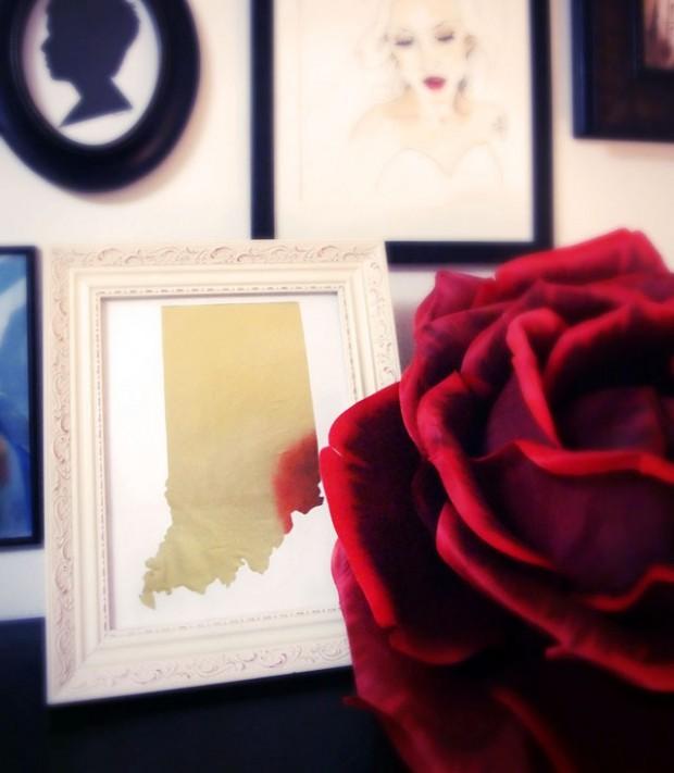 DIY Home State Art Framed