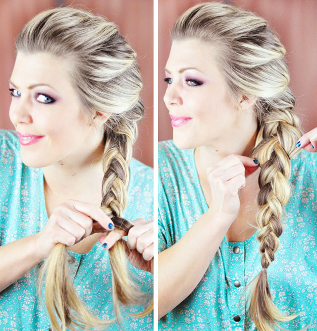 Frozen-Elsa Braid Hair Tutorial-5-6