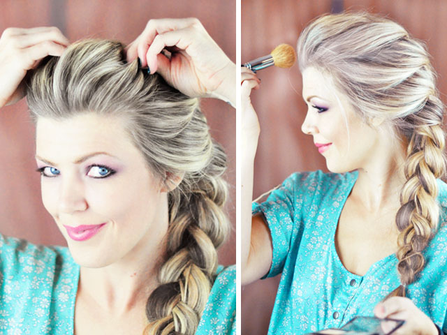 Frozen-Elsa Braid Hair Tutorial-8-9