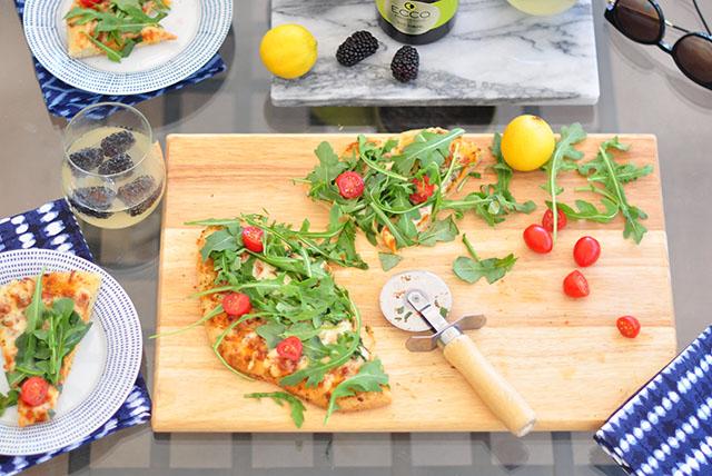 Frozen gourmet pizza party
