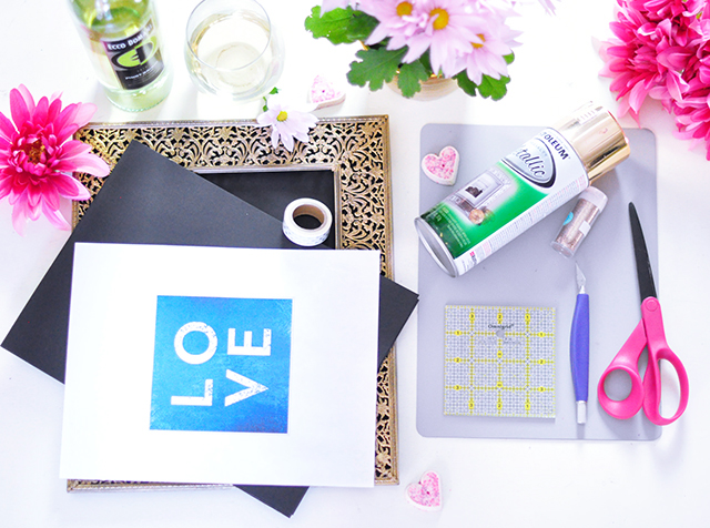 GOLD LOVE print DIY_1