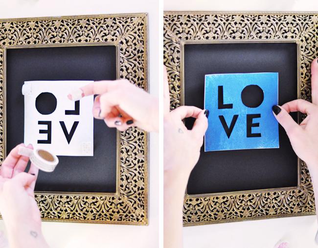 GOLD LOVE print DIY_3