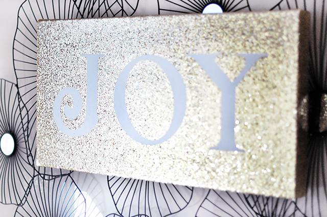 Glitter JOY canvas