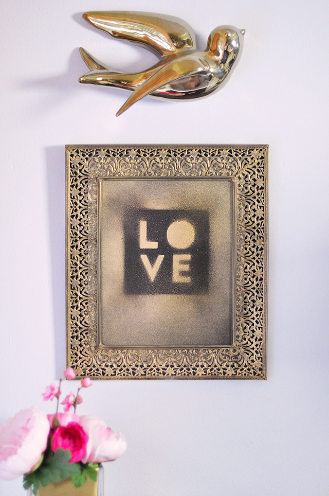 Gold Dust LOVE print DIY