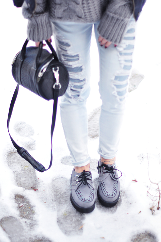 Gray creepers_TUK_Alexander Wang mini rockie bag