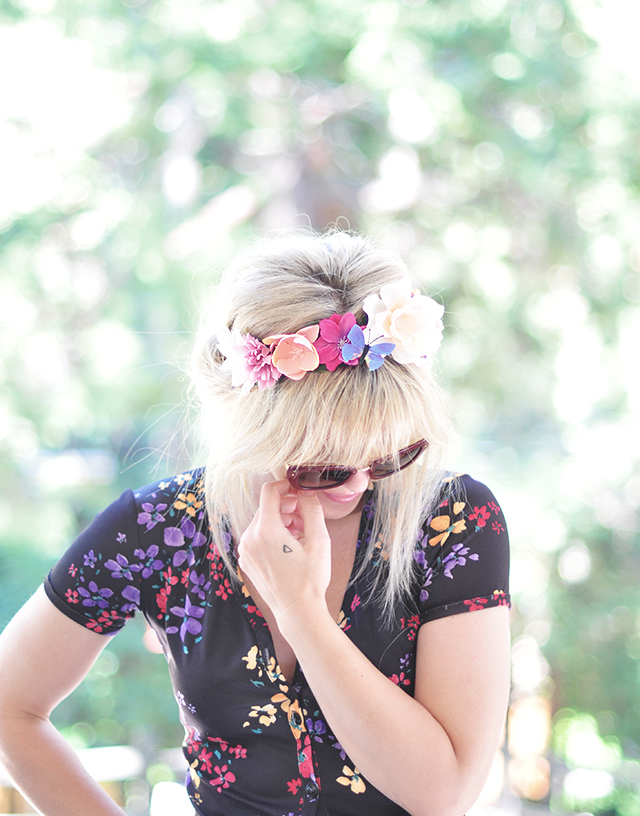 Hair Tutorial - Flower Crown Updo Roll 2-1