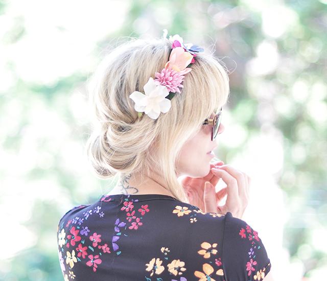 Hair Tutorial - Flower Crown Updo Roll 5-1