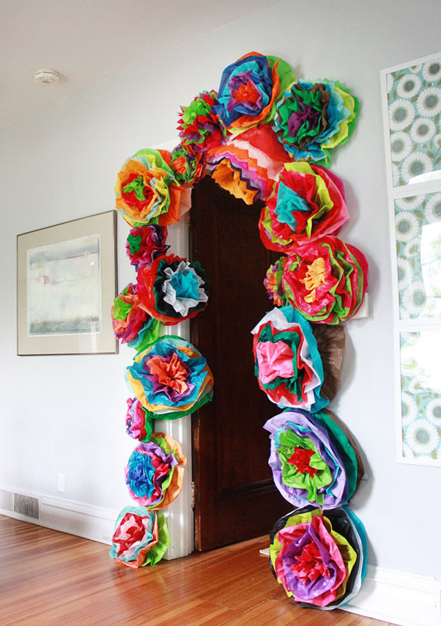 Huge Tissue Paper Flowers - cinco de mayo decor