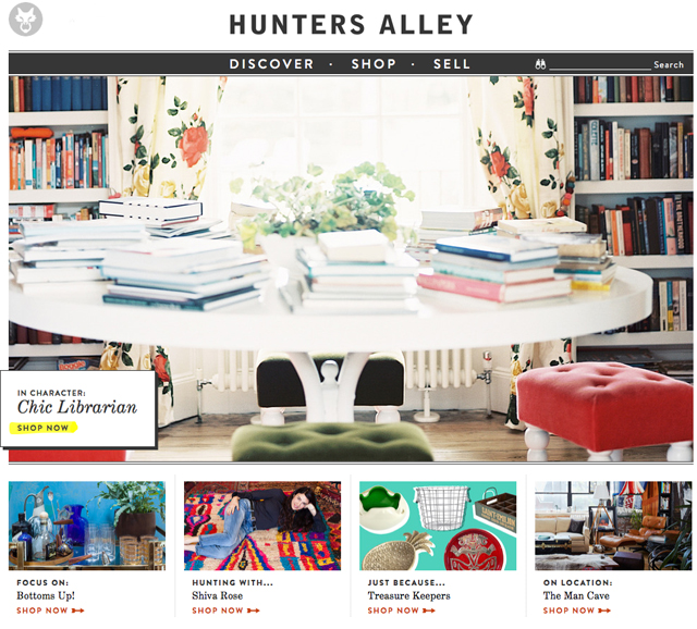 Hunters Alley home page