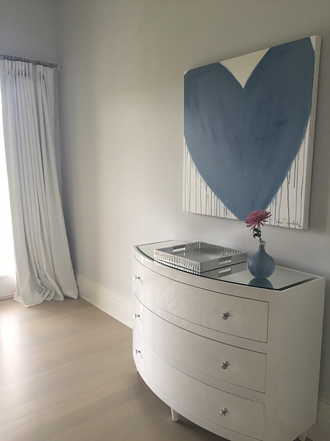 KERRI ROSENTHAL ART blue drippy heart