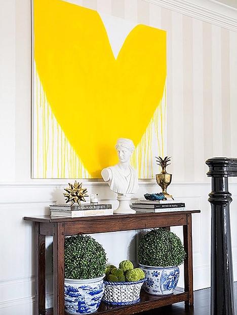 KERRI ROSENTHAL ART  drippy yellow heart