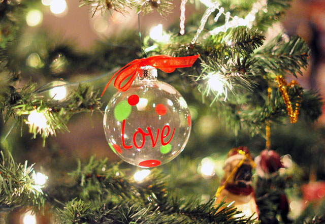 LOVE Christmas Ornament