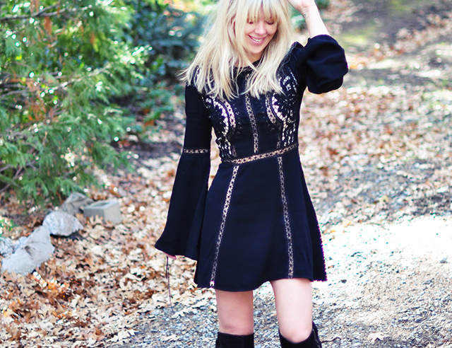 Love and Lemons little black dress_Free People boots