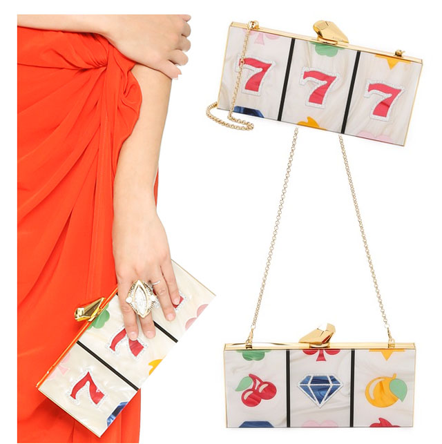 Lucky 7 clutch bag_slot machine vegas evening bag