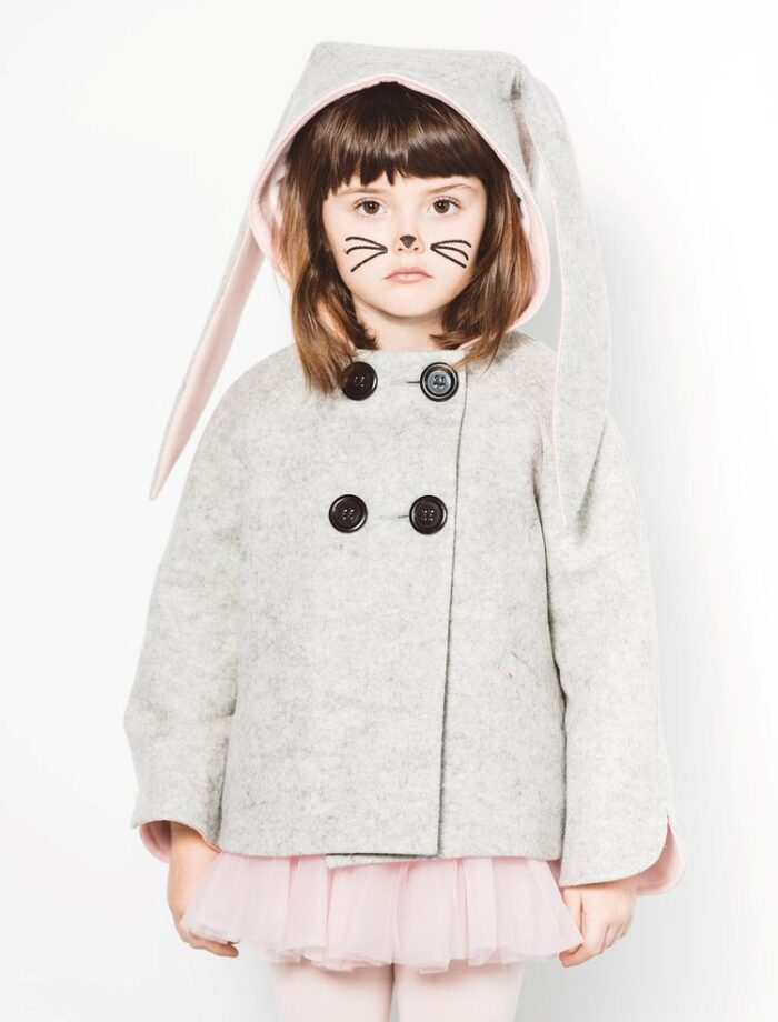 The cutest kid's bunny coat