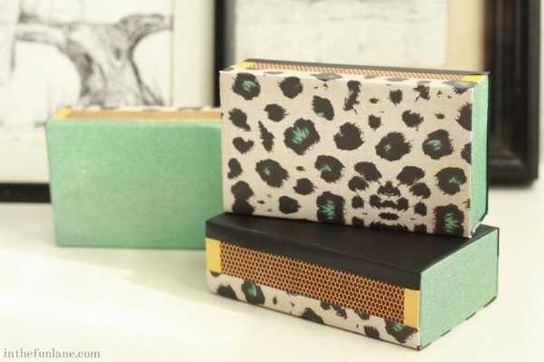 Matchbook Makeover DIY - Leopard Print