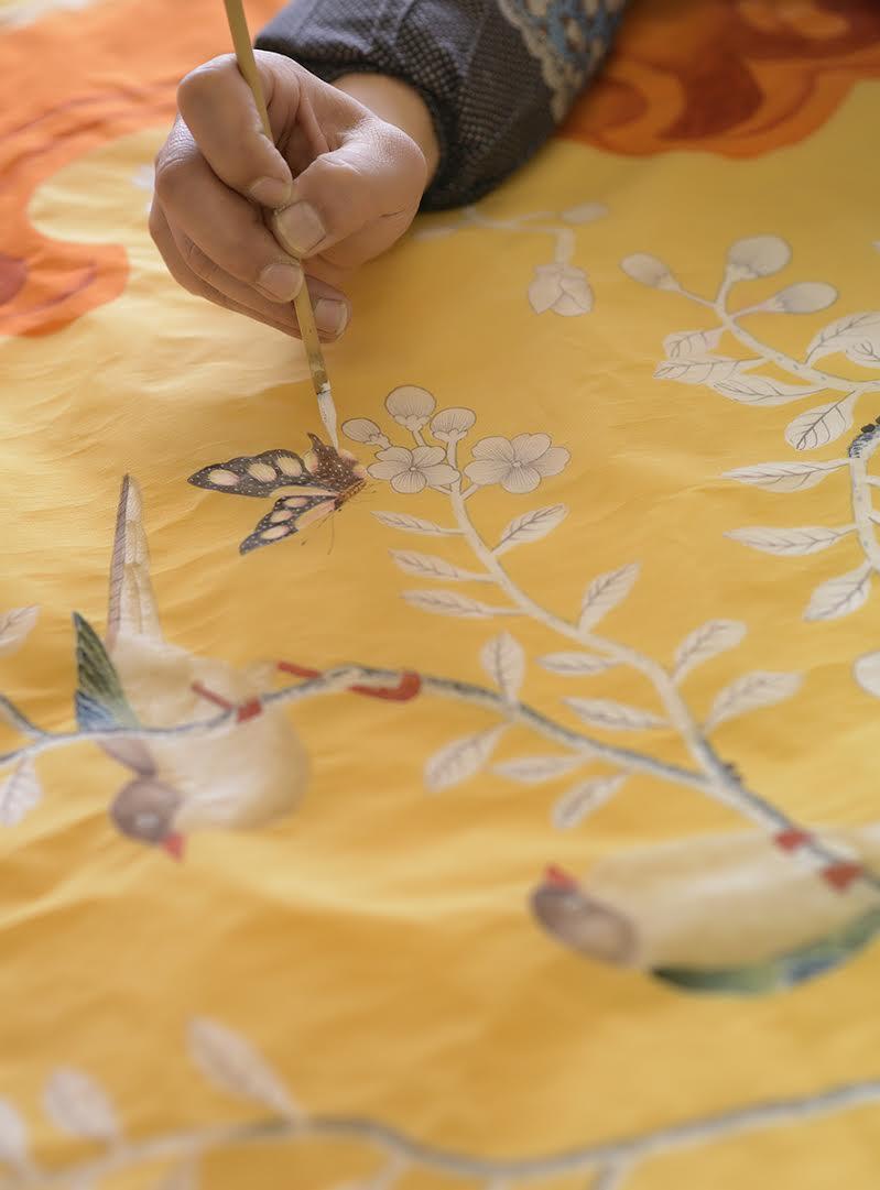 Met Gala Store Silk Scarves by de Gournay_1