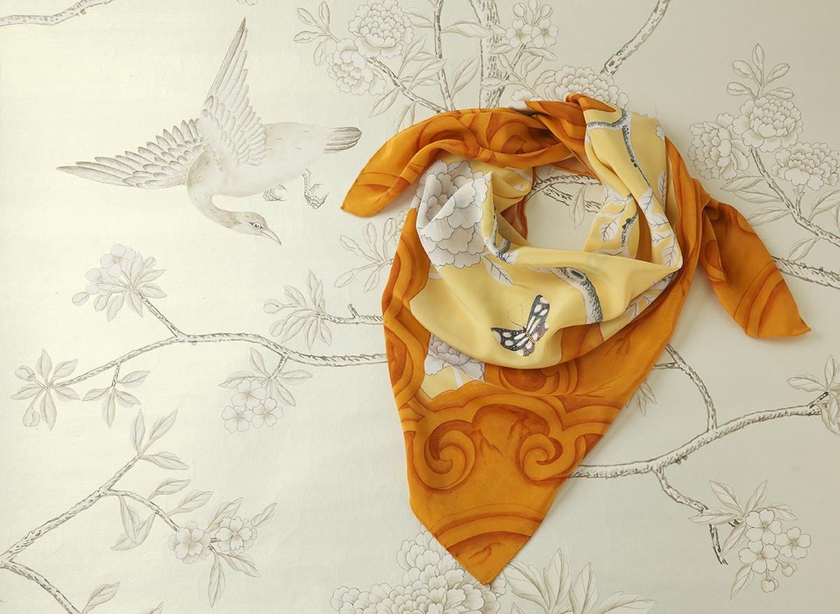 Met Gala Store Silk Scarves by de Gournay_2