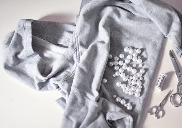 pearl hooded sweatshirt DIY