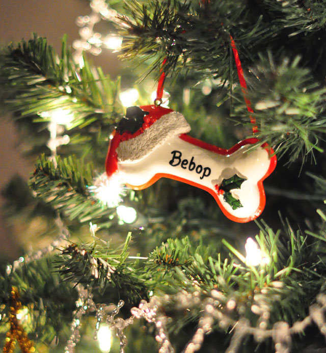 Personalized pet ornament- dog bone