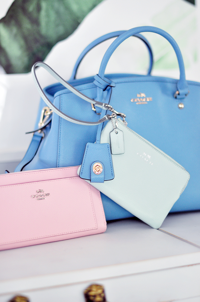 Pink wallet_blue bag_pantone 2016 colors_Coach bags