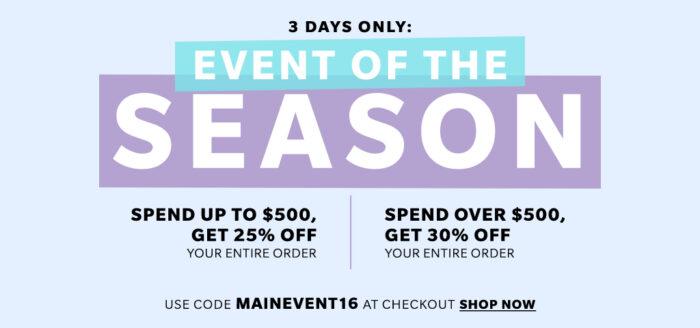 main event shopbop sale