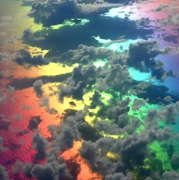rainbow sky + clouds