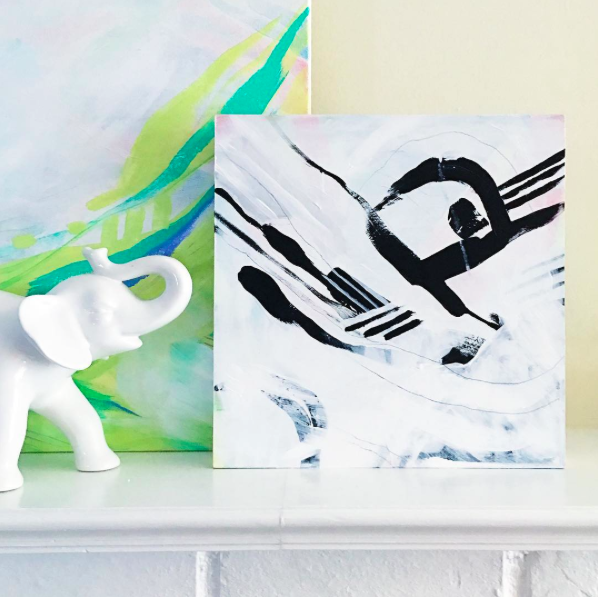 Abstract paintings by Allie Lehman