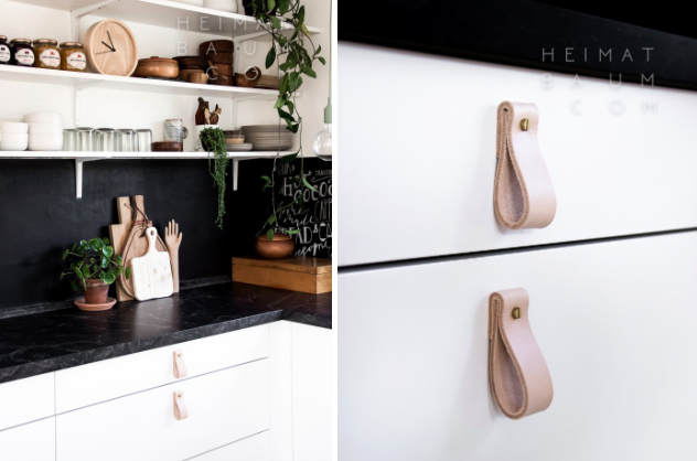 DIY Raw Leather Drawer Pulls