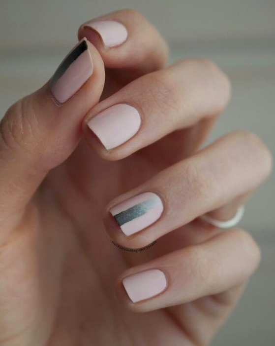 soft pink nails and nail art designs