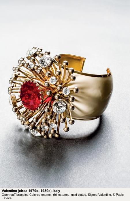 Valentino starburst bracelet cuff ca. 70s-80s