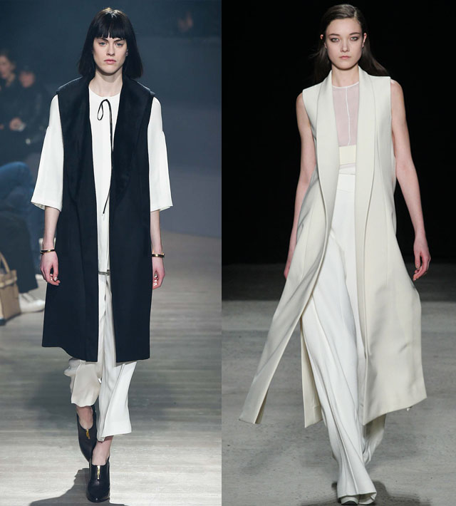 Sleeveless coats-Vests for Fall 2015
