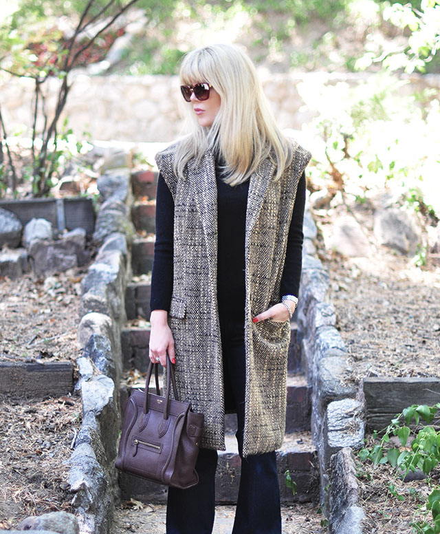 Sleeveless tweed coat diy - flares-celine