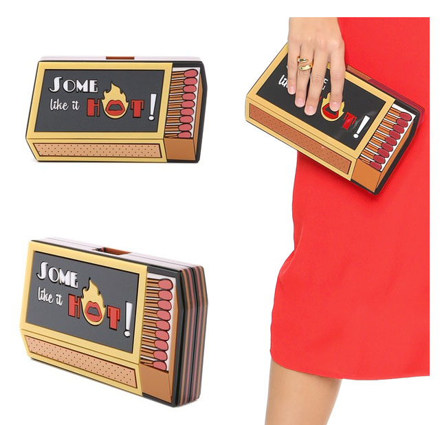 Some like it hot matches clutch bag