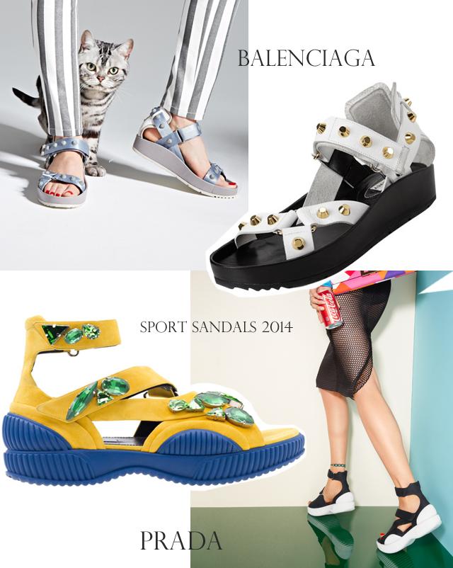 Sport Sandals 2014-Prada-Balenciaga