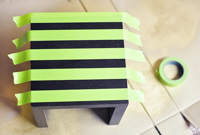 Striped nesting table DIY-2