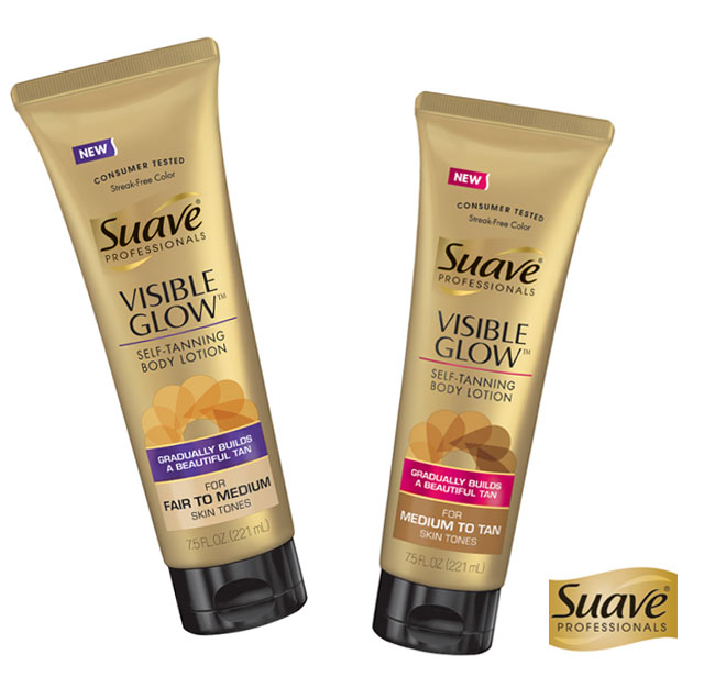 Suave visible glow self tanning body lotion