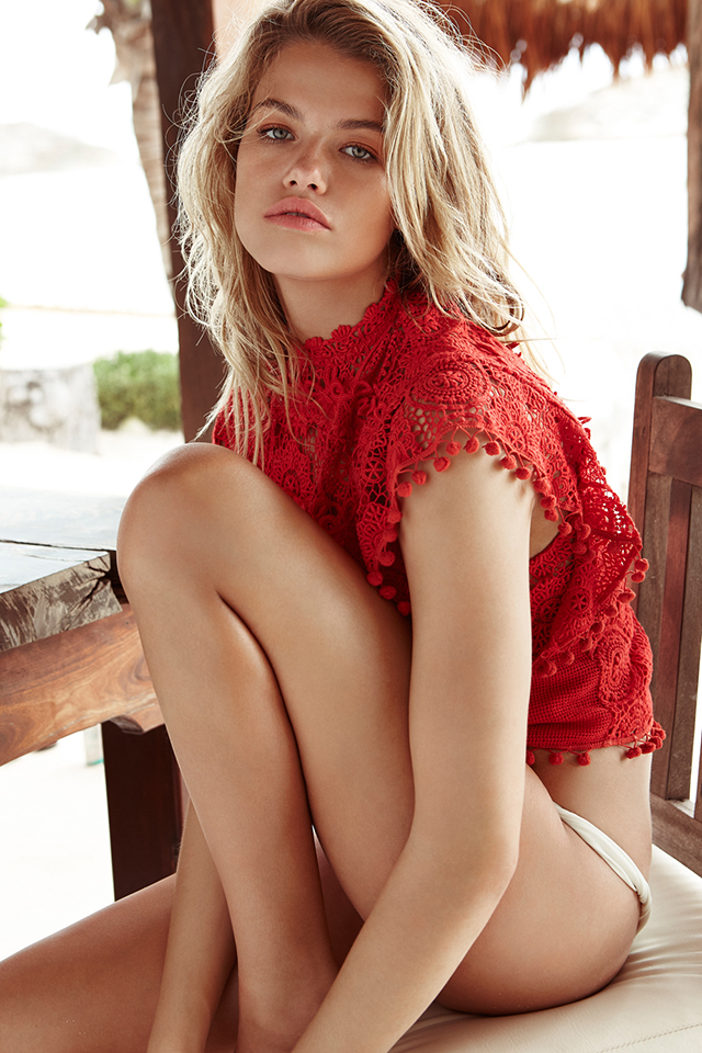 Summer Style_Tularosa_Clayton Lace Top_red