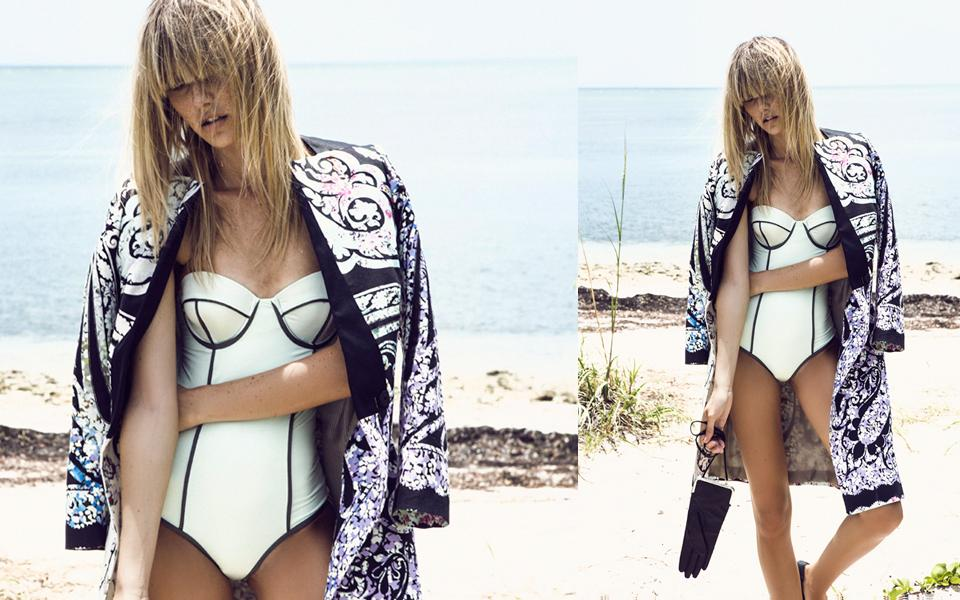 Summer-sporty bikini+bangs