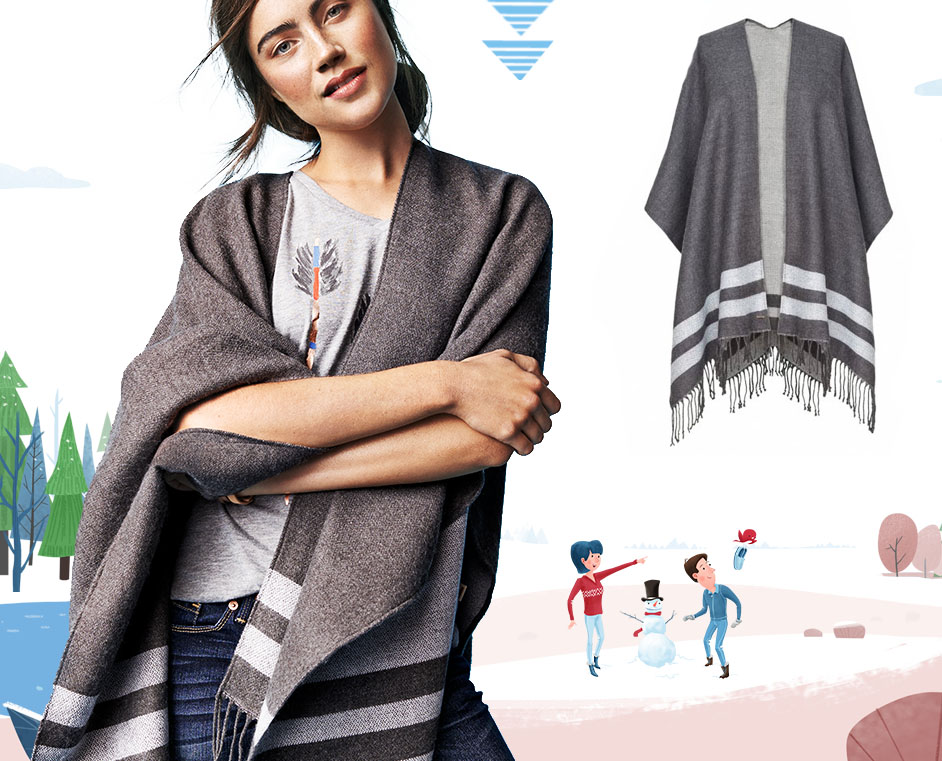 TOMSforTarget holiday gifts-poncho