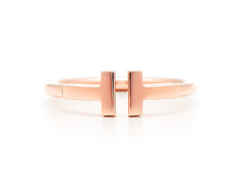 Tiffany and Co. T collection ring rose gold