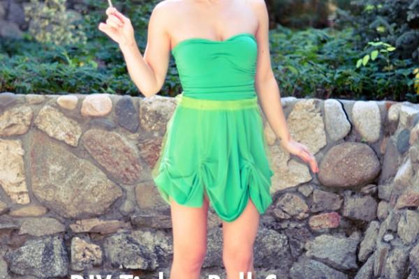 DIY Tinker Bell Costume + Hair & Makeup Tutorial