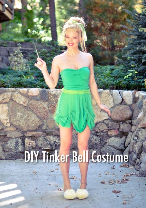DIY Tinker Bell Costume + Hair & Makeup Tutorial